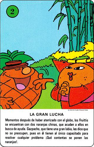 Baraja Los Fruittis Carta verde 2