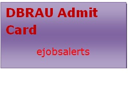 DBRAU Admit Card 2017