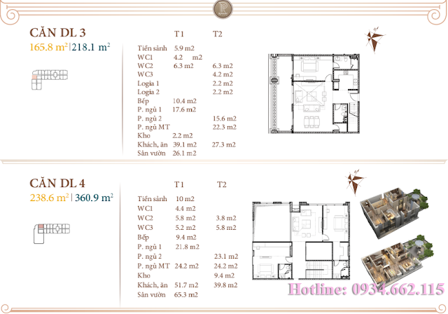 Loại hình căn hộ Duplex 03-04 tòa B1 Roman Plaza