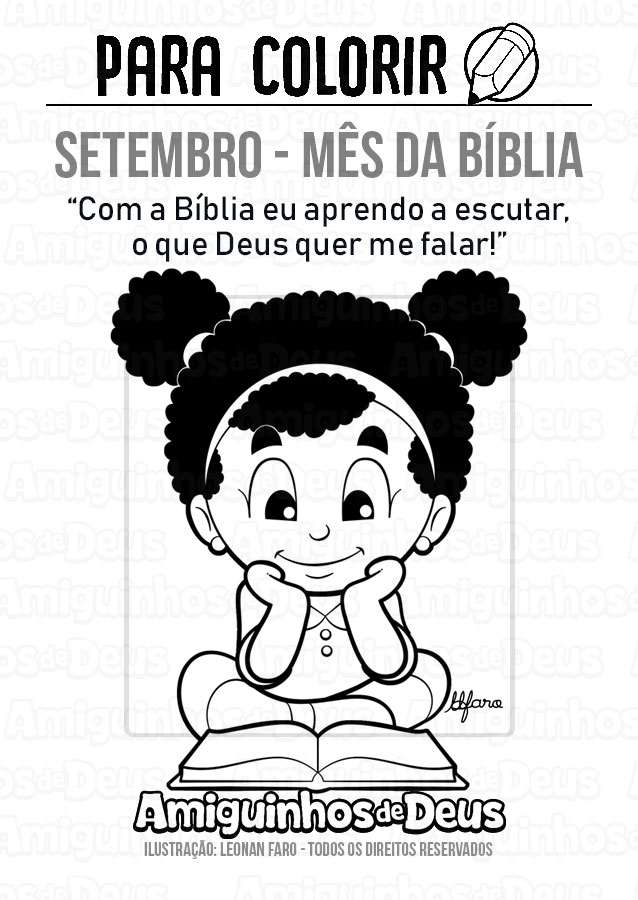 setembro mes da biblia desenho para colorir