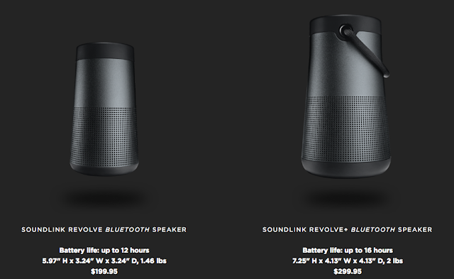 Bose SoundLink Revolve speaker vs Revolve+