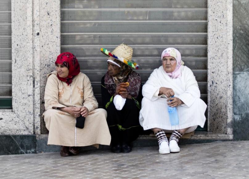 Elders in Tangier Tetouan Morocco