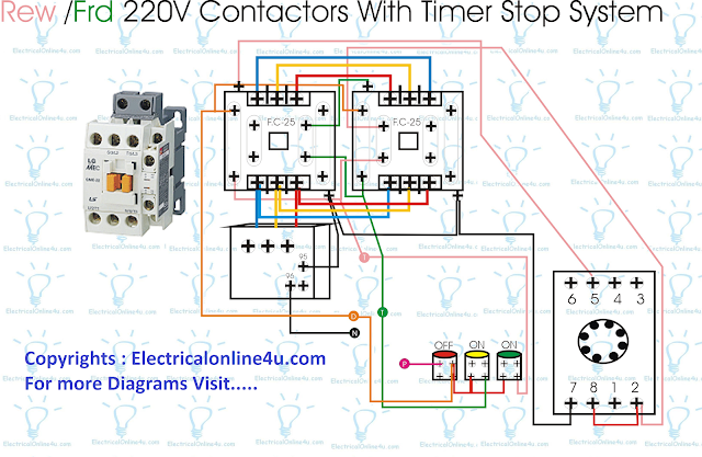 Forward Reverse Starter With Timer 3 Phase Motor Wiring