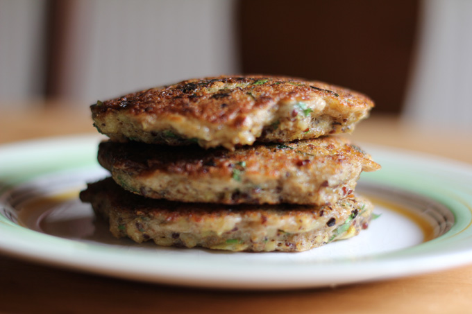 Quinoa Pancakes a fantastic vegetarian recipe that you can freeze ahead