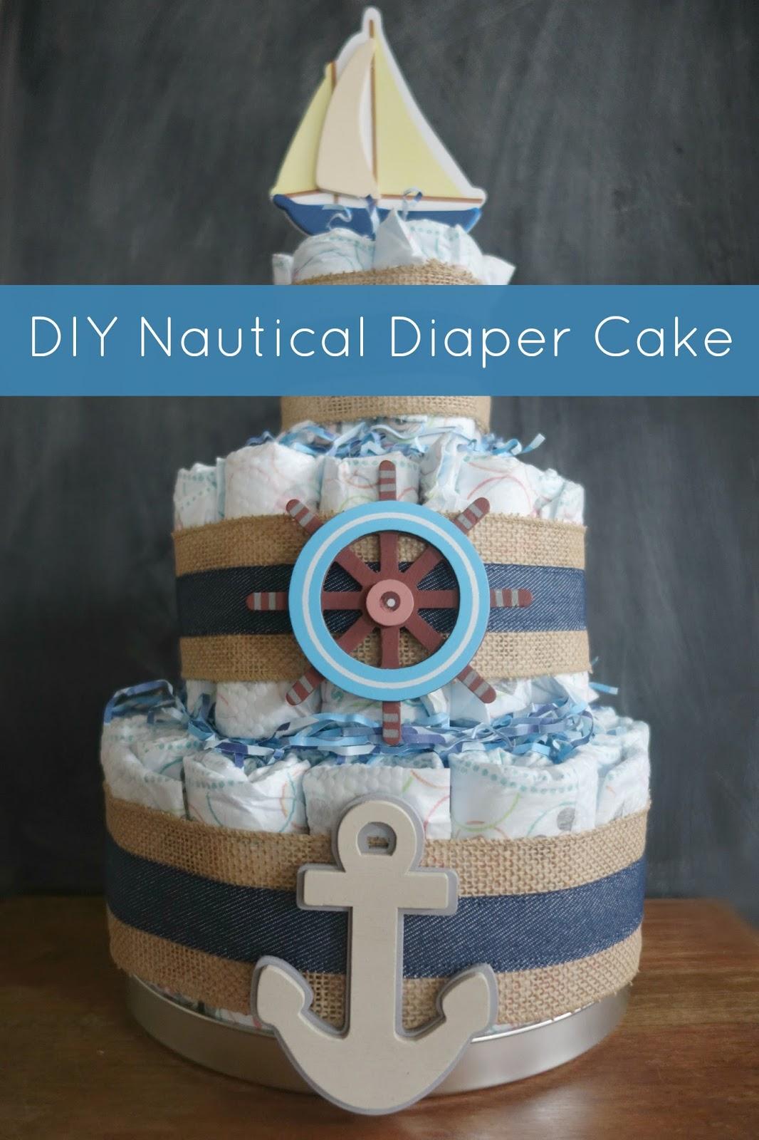 The Pepper Express Diy Nautical Diaper Cake