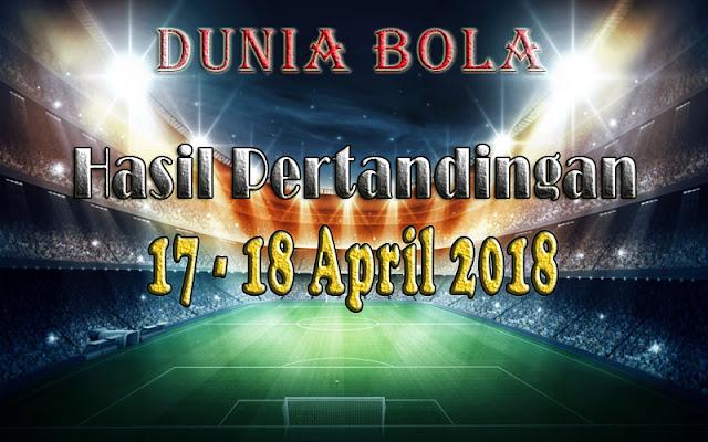Hasil Pertandingan Sepak Bola Tanggal 17 - 18 April 2018