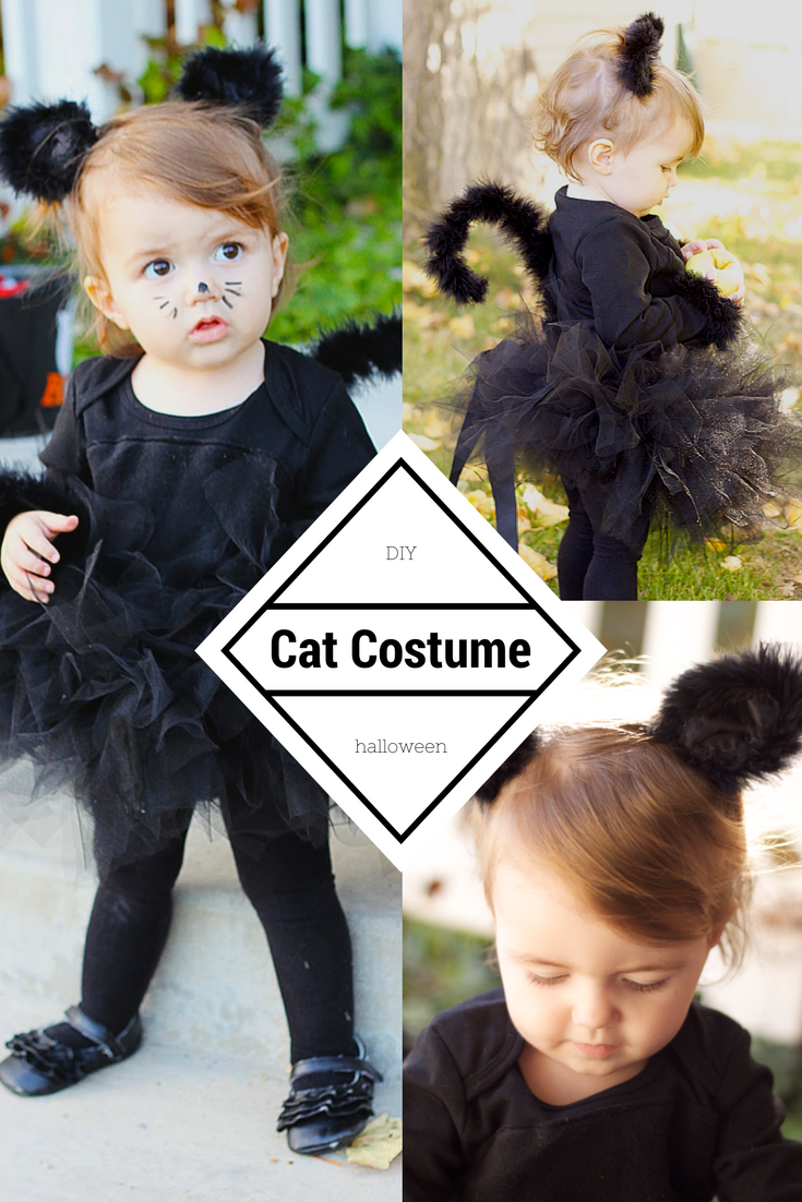 how to make a cat costume for little girl the cutest halloween costume  sc 1 st  Do It Yourself Divas & do it yourself as: DIY: Black Cat Costume