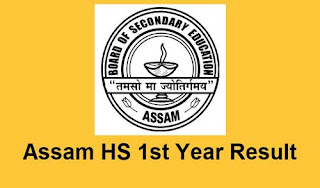 Assam HS 1st year result 2021