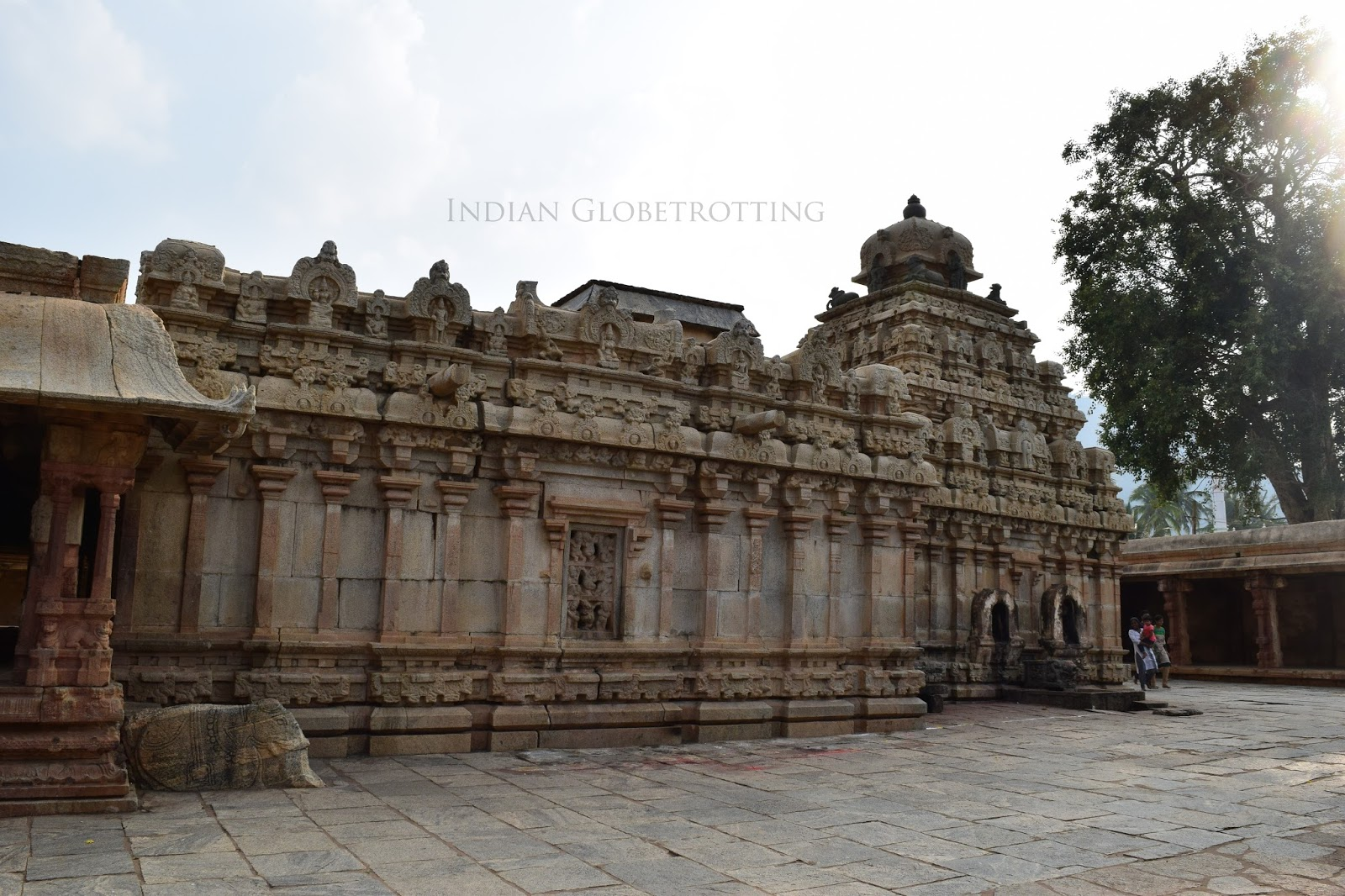 outside view of Bhoga Nandeeshwara temple in nandi village near nandi hills