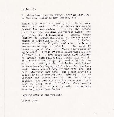 Jane E Seely Writes Abbie L Kimber