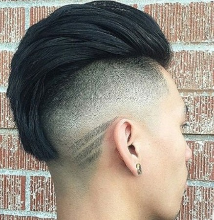 model rambut korea tipis samping
