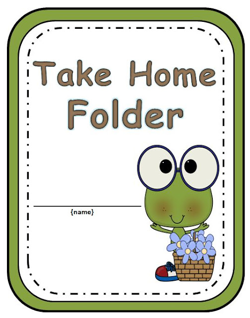 Your students will love getting organized with this adorable Frog Take Home Folder.