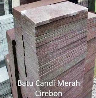 Model Desain Gambar Batu Alam Candi Merah Cirebon Teras Templek Dinding Rumah Minimalis