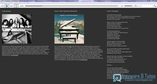Musique: un lecteur audio minimaliste mais élégant
