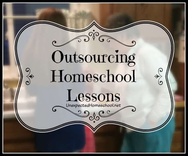 Outsourcing Homeschool Lessons can be as simple as afternoons with Grandma.