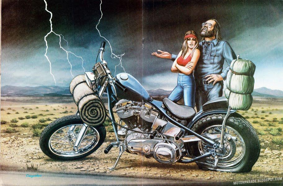 racing cafè motorcycle art david mann