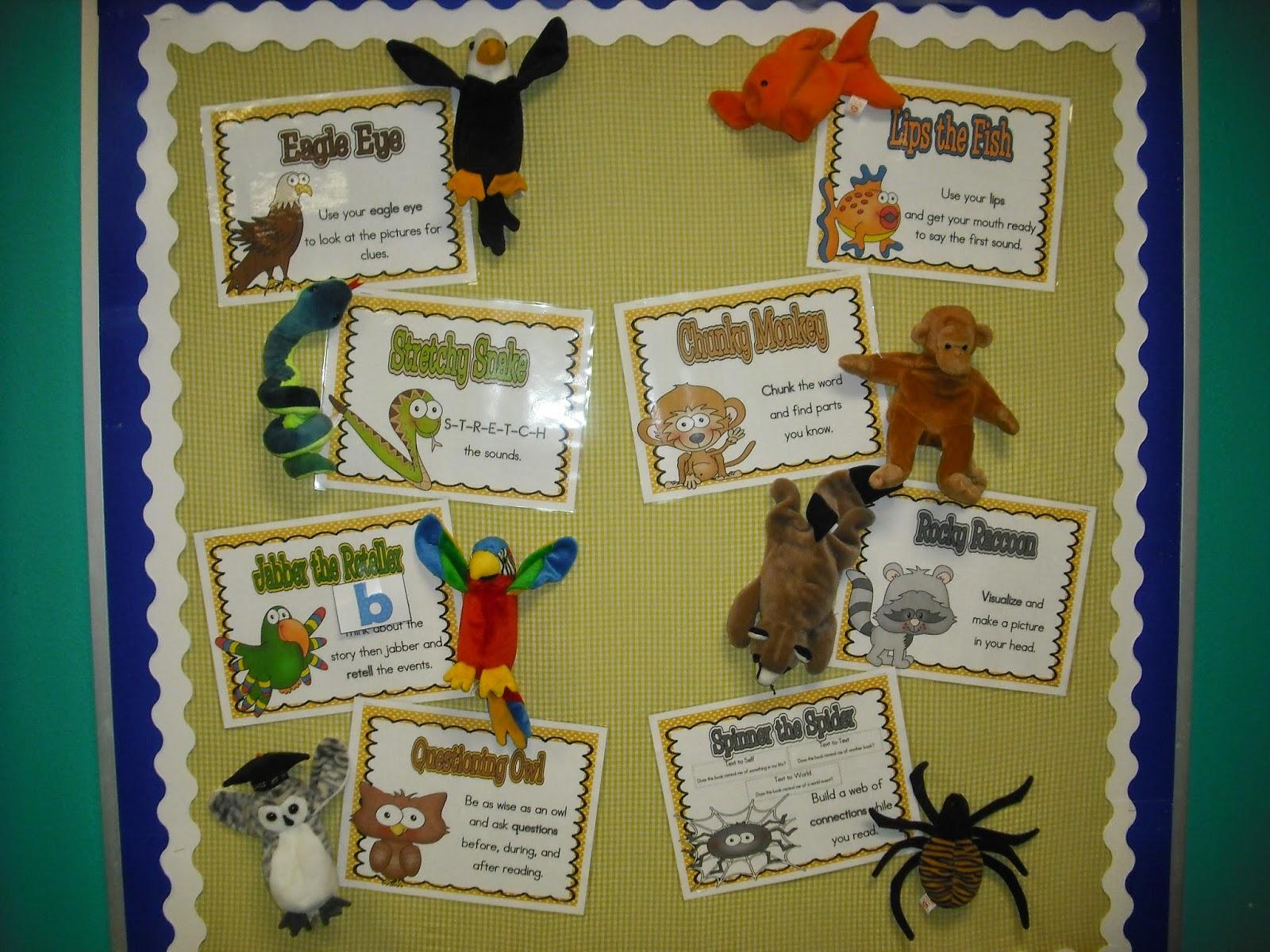 Sprinkles To Kindergarten Reading Strategies With Beanie Babies