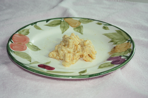 plate of macaroni cheese