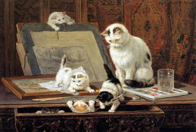 котята и уроки рисования