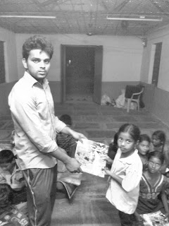 Teacing orphans in India