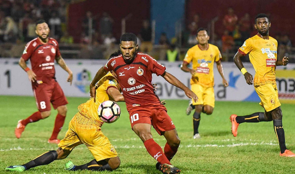 Semen Padang Ditahan Imbang Sriwijaya FC Di Kandang