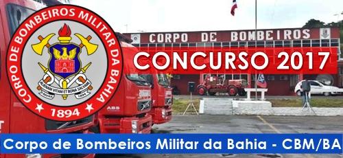 Edital Concurso Bombeiros BA 2017, 750 vagas.