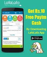 Free Rs10 Paytm Cash from LafaLafa App