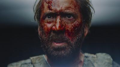 Nicolas Cage bloody Mandy 2018