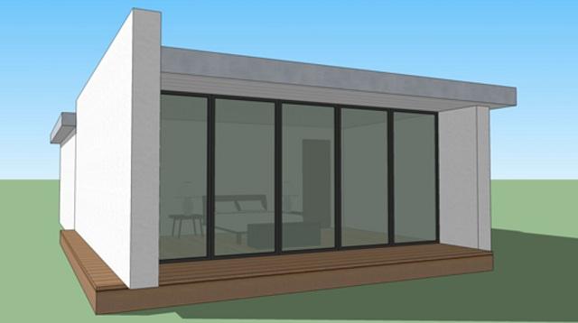 Plano de casa moderna de 65 m2 planos de casas gratis y for Casa moderna 150 m2