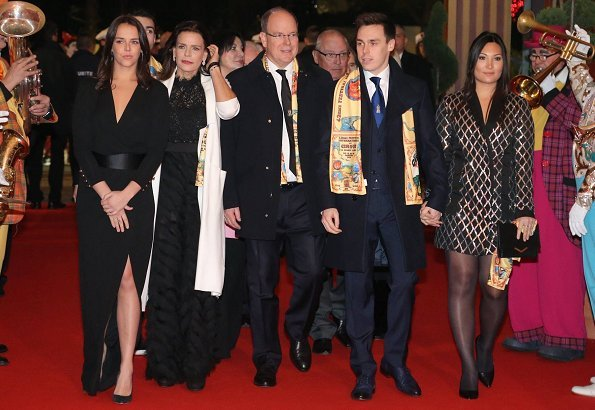 Prince Albert II, Princess Stephanie, Pauline Ducruet, Louis Ducruet and his girlfriend Marie Chevalier
