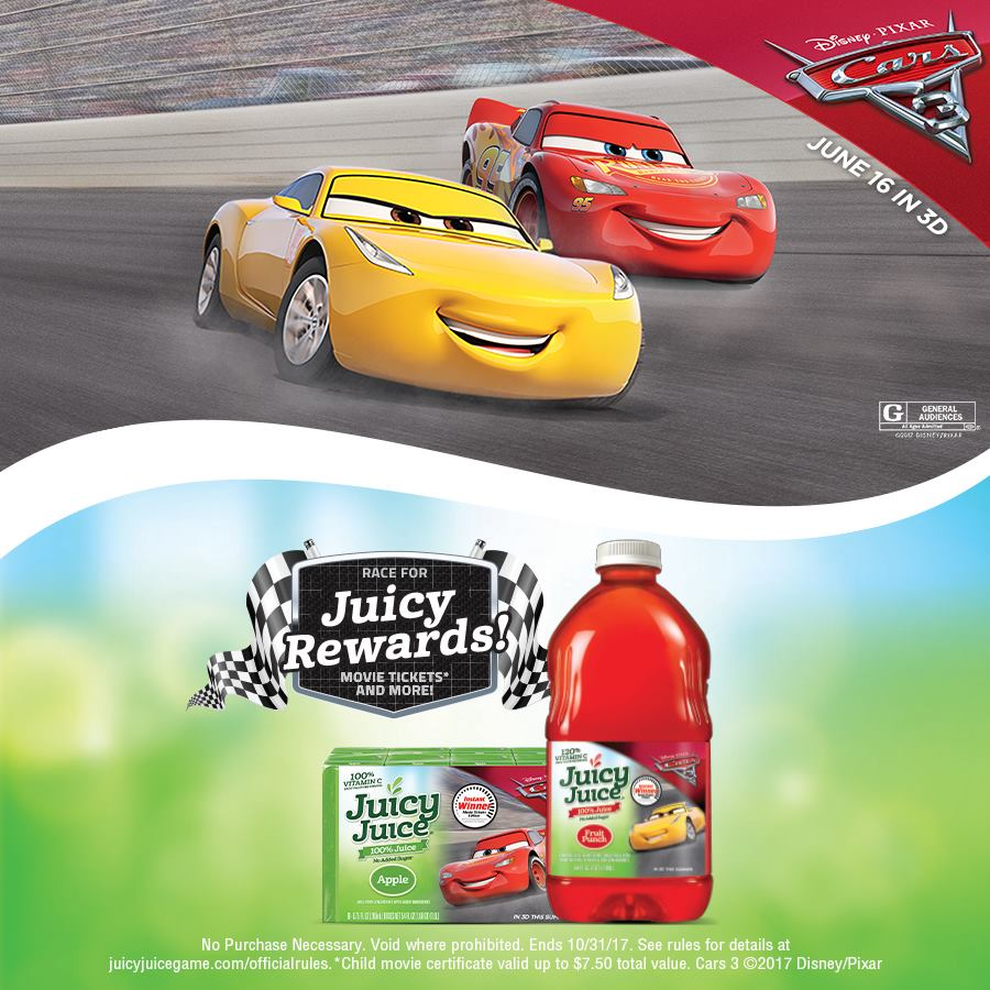 Countdown to Cars 3 with Juicy Juice | Mommy Katie