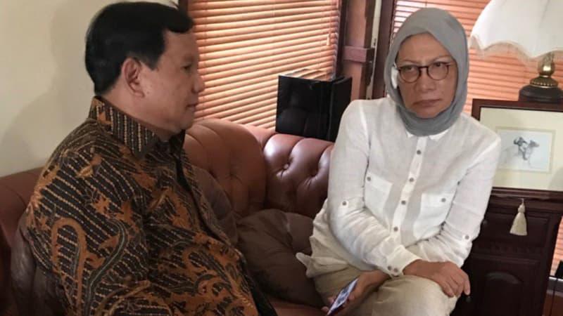 Alasan Prabowo Mengapa Percaya Cerita Fiksi Ratna