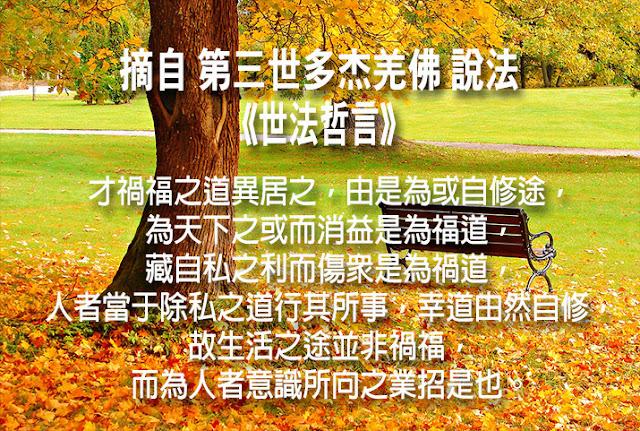 第三世多杰羌佛說《世法哲言》(六十三)