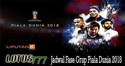 Jadwal Fase Grup Piala Dunia 2018