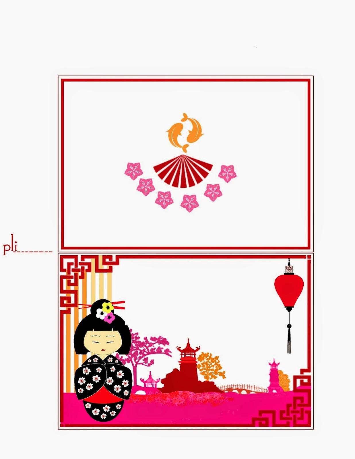 Etiquetas para Imprimir Gratis de Kokeshi.