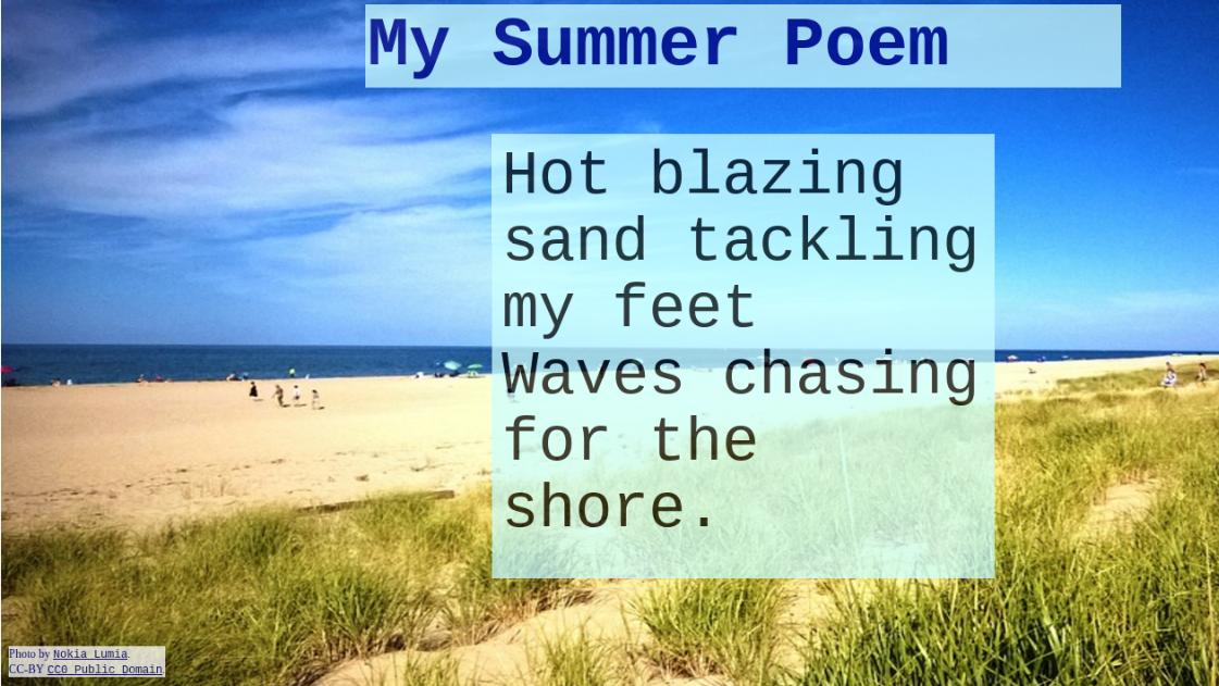 my summer poem