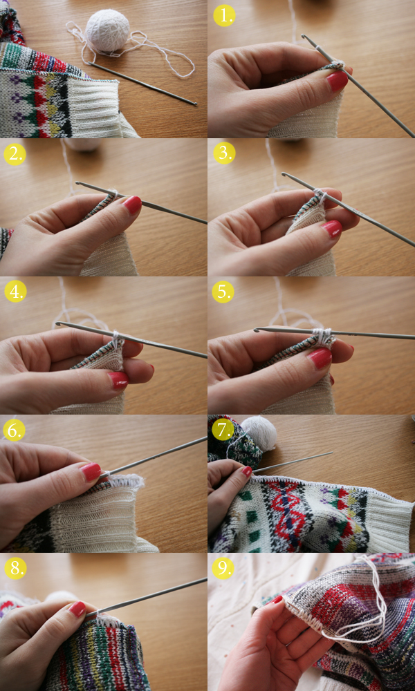 sweater edge crochet tutorial