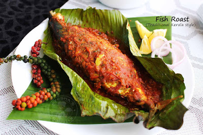 ayala pollichath mackerel fish masala roast fish fry banana leaf fish fry