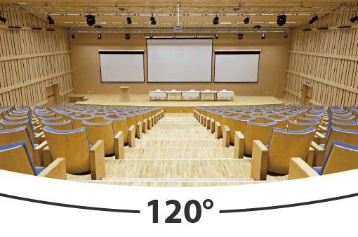AVer PTC500 cho khả năng xoay góc rộng 120 độ toàn cảnh trong hội nghị truyền hình