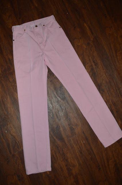 Junior Vintage Wrangler Pro Rodeo Denim Jeans ~ Sz 11 Long ~ Cowboy Fit ~ Pink