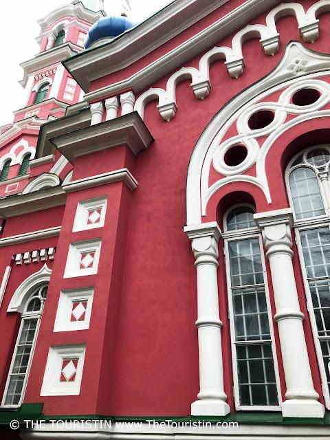 Holy Trinity Orthodox Church in Āgenskalns facade. riga. latvia. the touristin