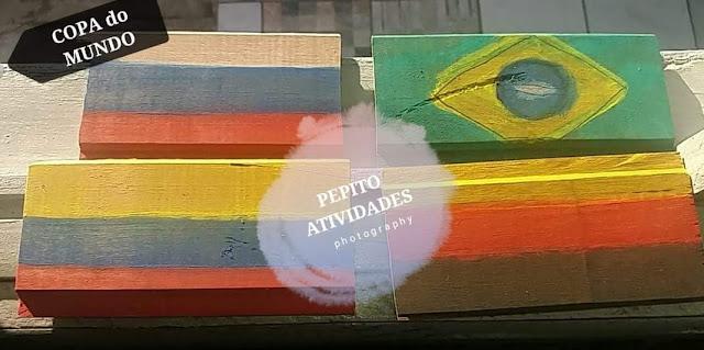 Atividade Artes Copa do Mundo Bandeiras dos Países da Copa 2018