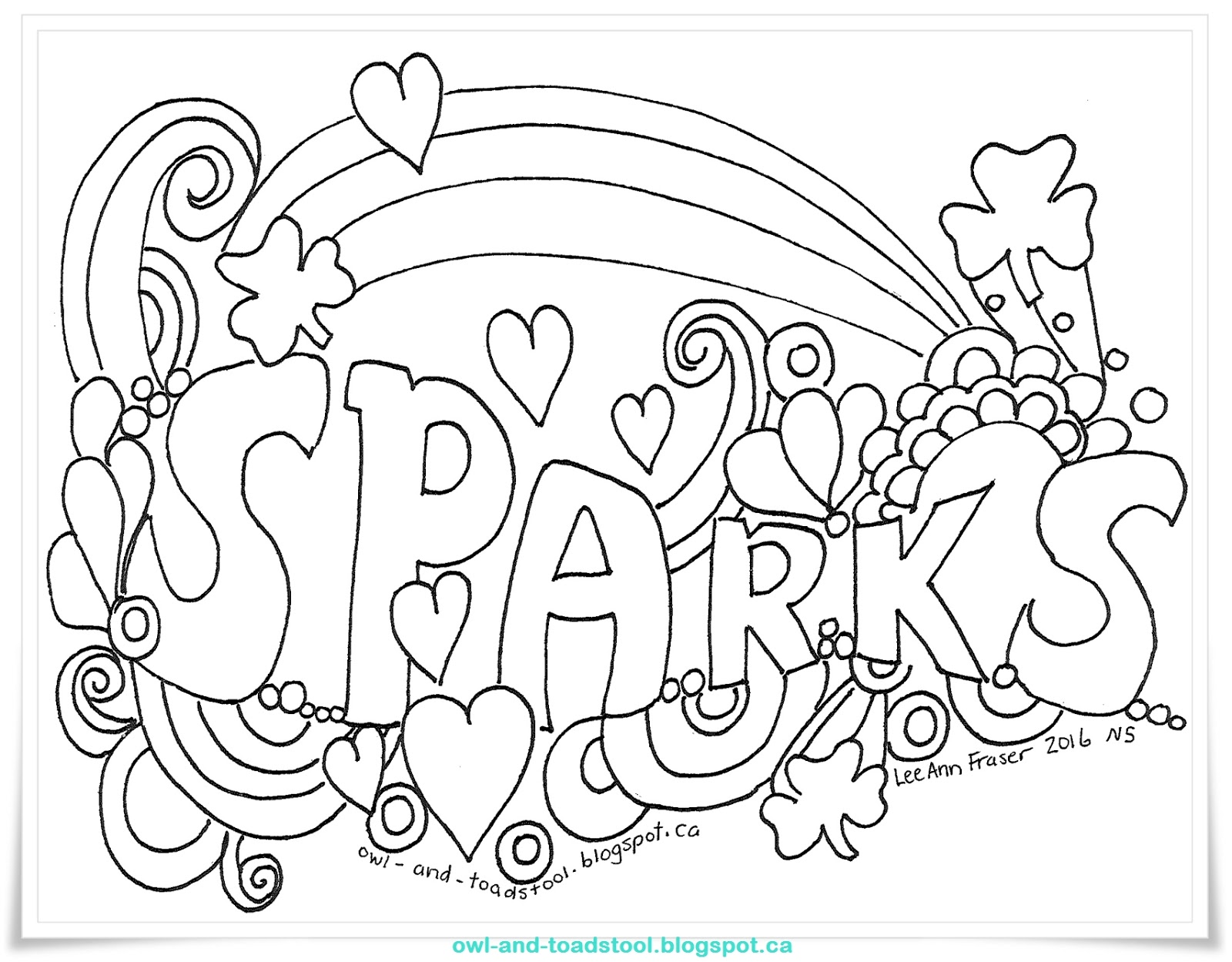 Girl Guide Sparks Colouring Pages