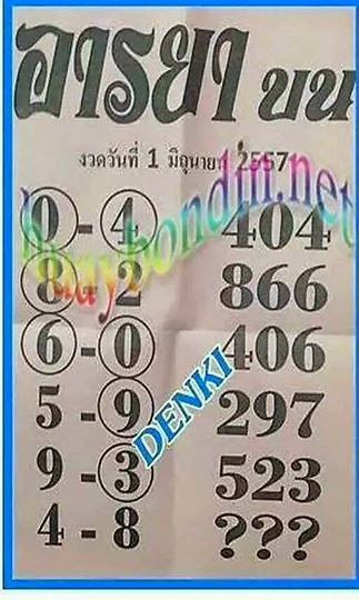 Thai Lotto VIP Tips  | Thai Lotto 3up Touch 01-06-2014