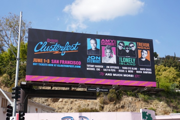 Comedy Central Clusterfest 2018 billboard