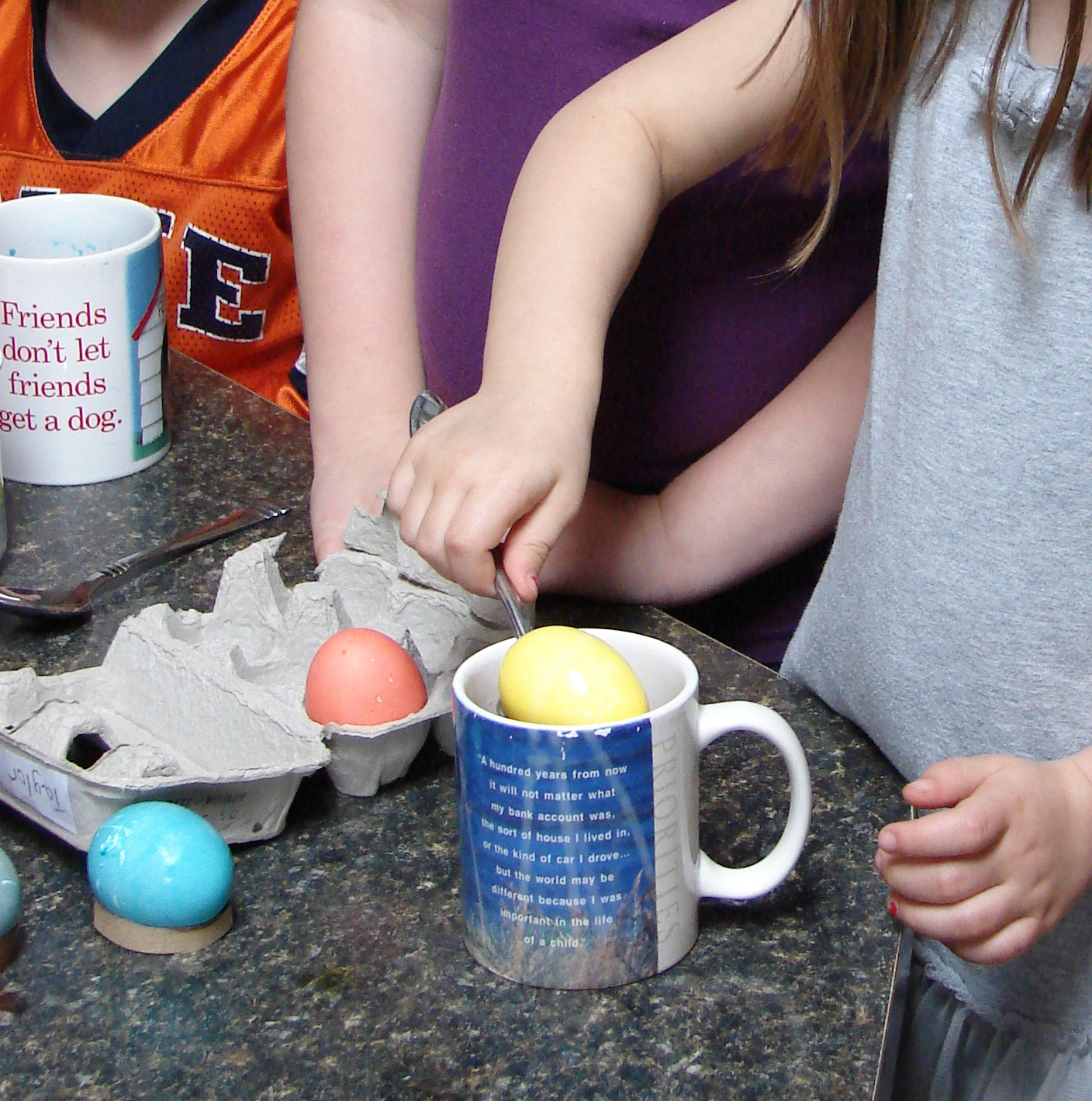 Color My World: Dying Easter Eggs and McCormick Food Coloring