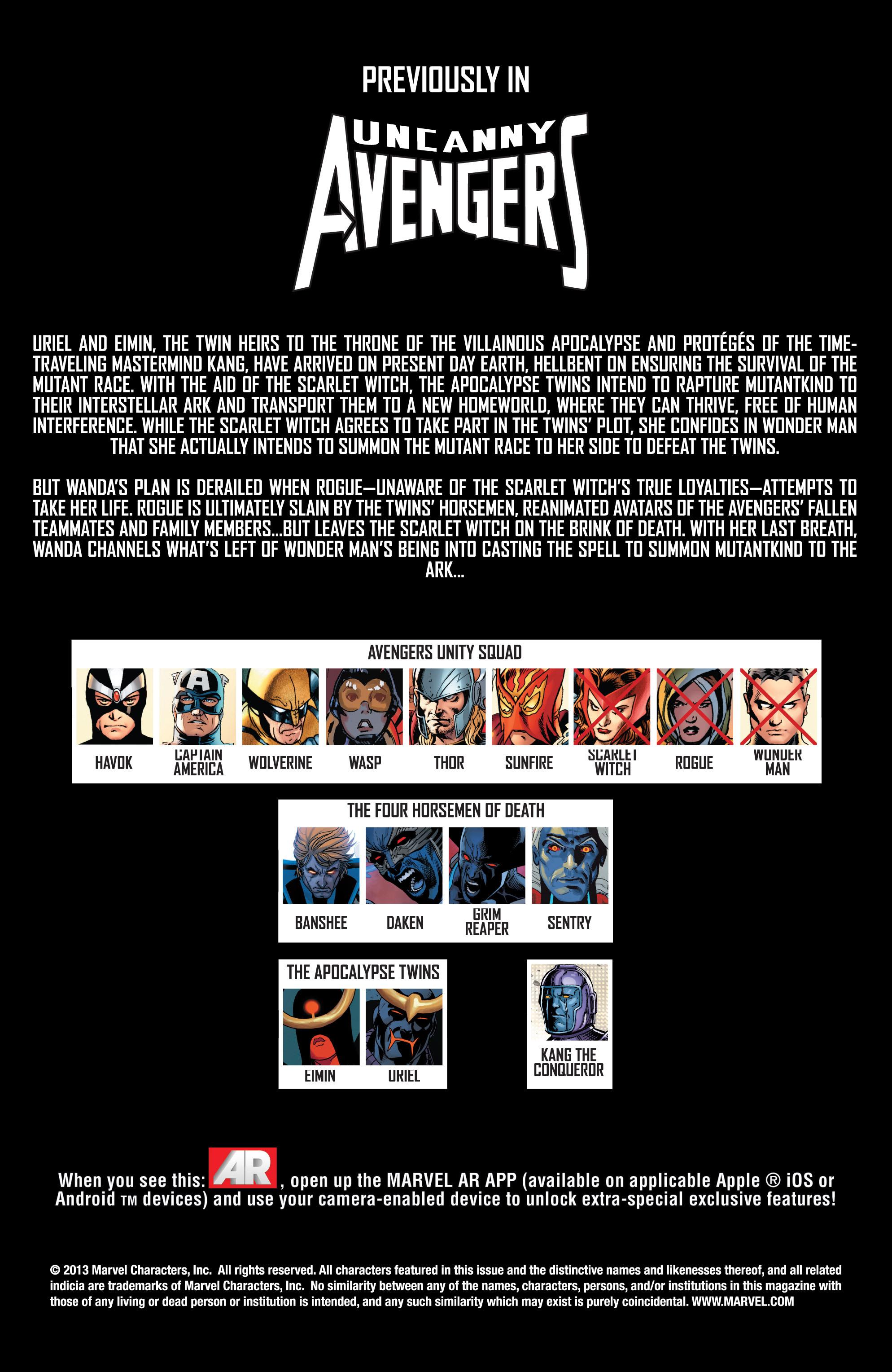 Read online Uncanny Avengers (2012) comic -  Issue #15 - 2