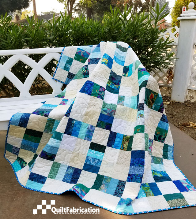Sea Glass, Railroad Crossing quilt pattern