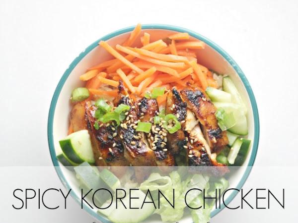 Spicy Korean Chicken Brown Rice Bowls