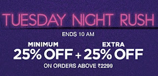 Jabong: Clothing, Footwear, Accessories Min 25% OFF + Extra 25% OFF on Min Cart Rs.2299